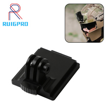 Aluminum Helmet Fixed Mount NVG Base Holder Adapter for GOPRO Hero 7 4 5 6 Session yi Sjcam EKEN Action Video Sports Cameras