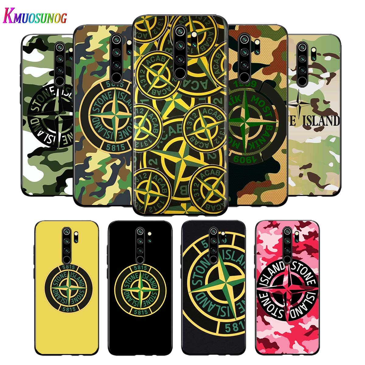 For Xiaomi <font><b>Redmi</b></font> <font><b>Note</b></font> 9 9S Max Phone <font><b>Case</b></font> Stone and Island <font><b>Logo</b></font> Back For Xiaomi 8T 8 <font><b>7</b></font> 6 5 Pro 5A 4X 4 Black Phone Cover image