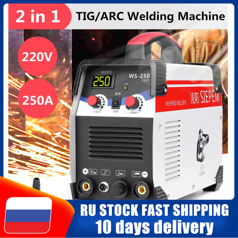 2In1 Arc Welder ARC/TIG IGBT Inverter Electric Welding Machine 220V 250A MMA Welders For Welding Working Electric Working Tools
