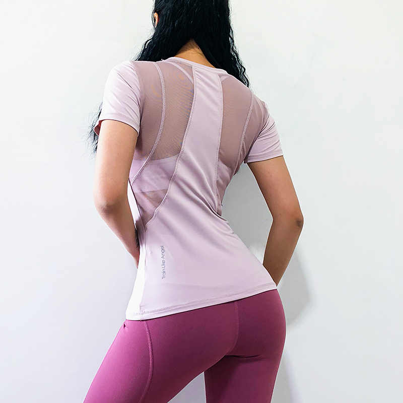 NEVERSTOP Quick Dry Fit Yoga Tops Women Sport T Shirt Gym Jerseys Fitness Shirt Yoga Running T-shirts Female Sports Top Cloth