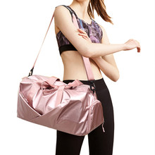 Gym Bag Yoga Mat Bags Women Fitness Gymtas Men Handbags Shoes Compartment Travel Training Bag Sport Duffel Maleta Gym Sack Pink(China)