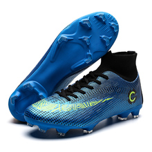 New Football Boots Man Soccer Shoes Artificial Grass Original TF/FG Superfly High Ankle Kids Crampons Outdoor Sock Cleats Shoes
