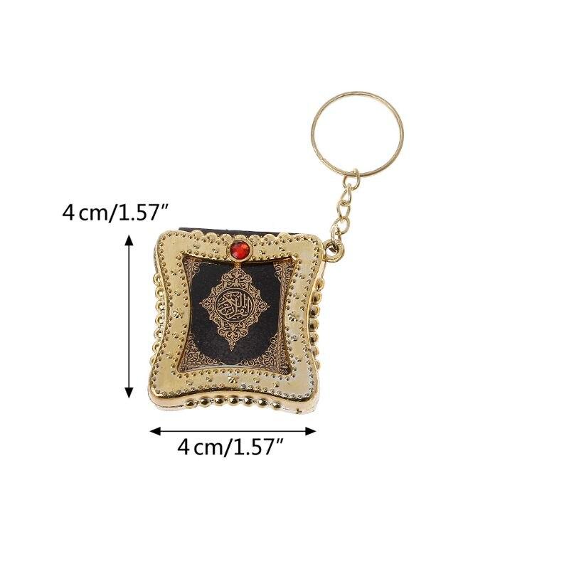 Image 2 - Fashion Keychain Mini Ark Quran Book Koran Pendant Muslim Keychain Bag Purse Car Decor JewelryKey Chains