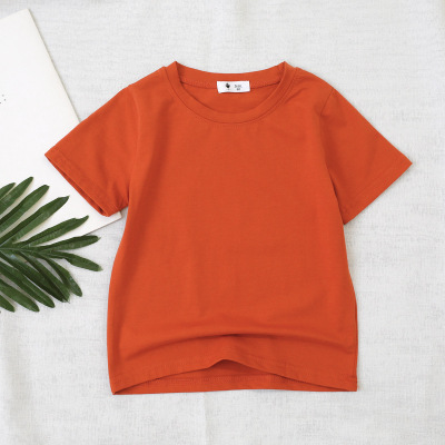 VIDMID children t-shirt Baby boys girls Cotton short sleeves tops tees clothes T-shirt kids summer solid color clothing  4006 04 6