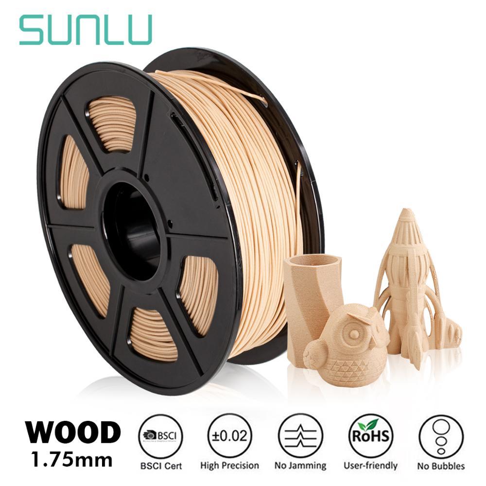SUNLU деревянной PLA 3D-принтеры нити из натурального дерева нити 1,75 мм 1 кг (2.2LBS) шпуля возможна погрешность +/-0,02 мм
