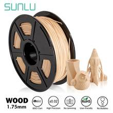 Sunlu filamento de madeira real da impressora do pla 3d filamento de madeira 1.75mm 1kg (2.2lbs) precisão dimensional do carretel +/- 0.02mm