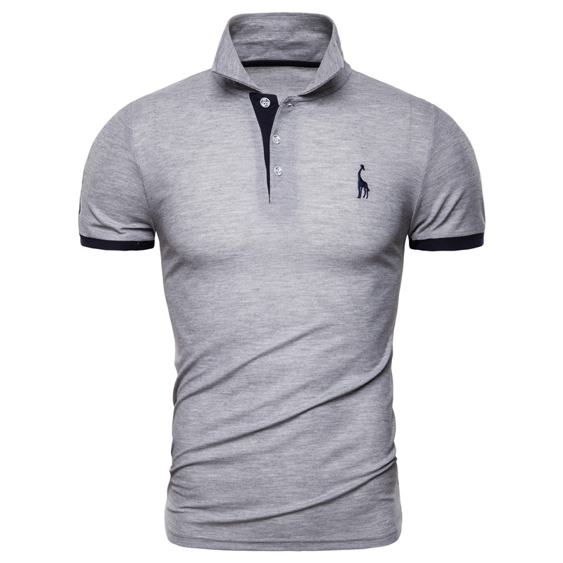 Dropshipping 13 Colors Brand Quality Cotton Polos Men Embroidery Polo Giraffe Shirt Men Casual Patchwork Male Tops Clothing Men 11