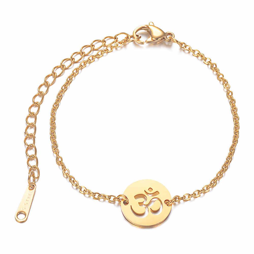 2019 cienkie Hollow-Lotus proste bransoletki prezent kobieta osobowość złota bransoletka medytacja biżuteria 14.5cm + 6cm Extender