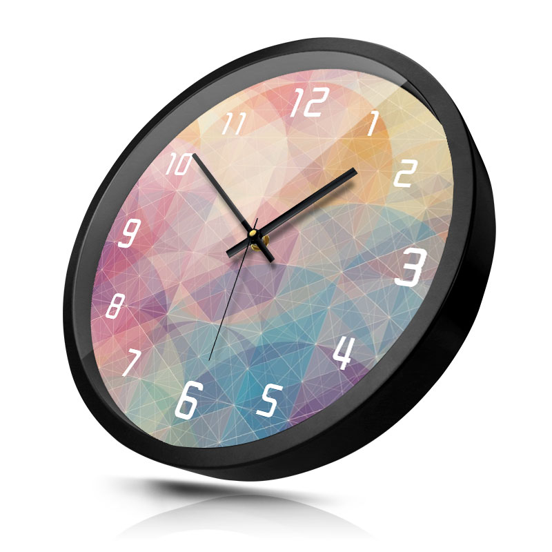 Large Clocks Wall Watches Home Decor Metal Wall Clock Living ...