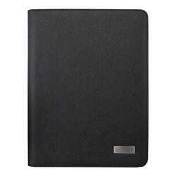 Tamaño A4 cuaderno de viaje de composición Libro de Negocios bolsa de gerente carpeta de archivos con cargador de energía inalámbrico soporte de bolsa móvil
