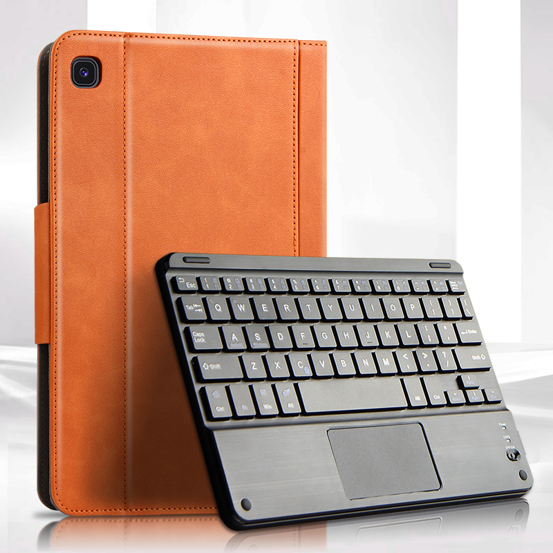 <font><b>Case</b></font> For Samsung Galaxy Tab S6 Lite 10.4 SM-P610 P615 Bluetooth keyboard Protective Cover PU SM-P615 P610 10.4