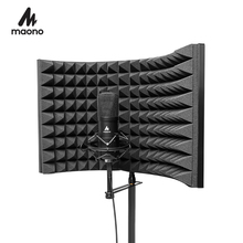 MAONO Alloy Foldable Microphone Acoustic Isolator Shield Acoustic Foams Panel Professional Studio Soundproofing Panel
