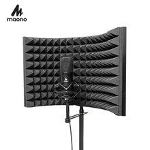MAONO Alloy składany mikrofon akustyczny izolator tarcza akustyczna pianki Panel profesjonalne Studio dźwiękochłonne Panel