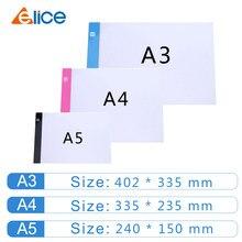 Elice a2 a3 a4 a5 ultra fino led desenho digital gráficos almofada usb luz led desenho tablet arte eletrônica pintura