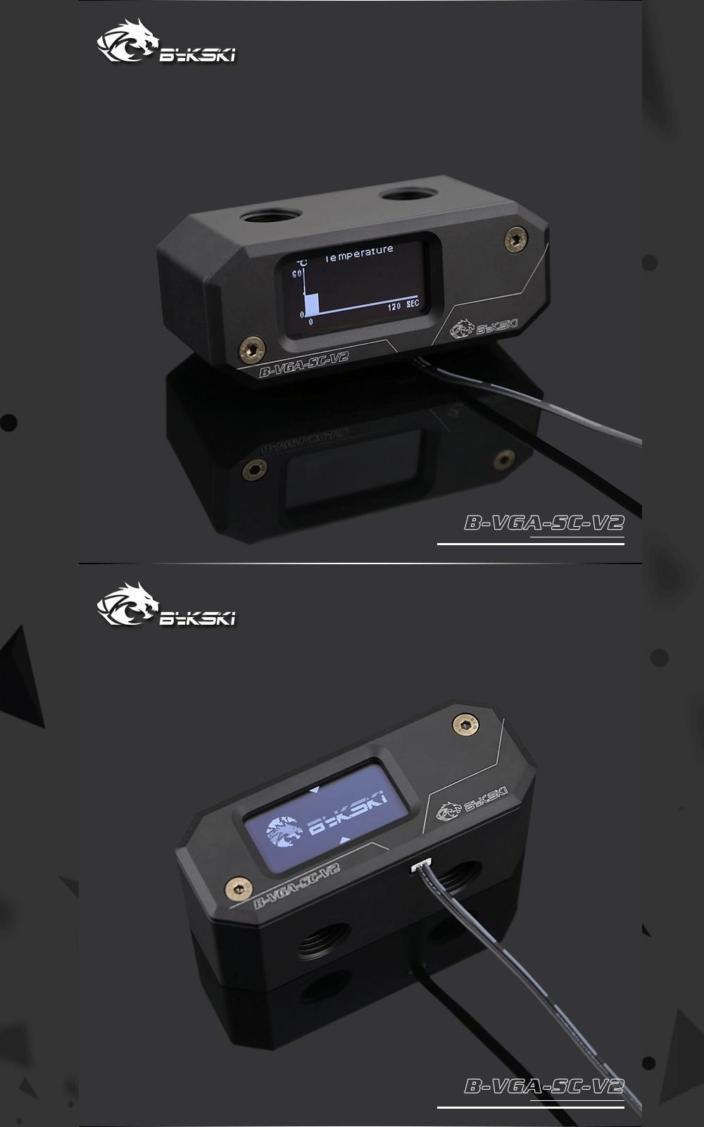 Bykski B-VGA-SC-V2, Bykski's GPU Блок мост цифровой дисплей термометр Замена модули, для Bykski's GPU блоки