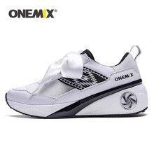 Onemix Zapatillas deportivas para mujer, calzado deportivo rosa con aumento de altura, deportivas de goma para Hombre y mujer