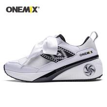 Onemix נשים גובה הגדלת נעלי ספורט ורוד Zapatos דה Hombre אתלטי סניקרס נשים ורוד ספורט סניקרס גומי גברת נעליים