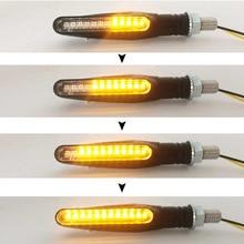 4PCS Universal Blinkerลำดับสัญญาณไฟเลี้ยวรถจักรยานยนต์Flasherตัวบ่งชี้สกู๊ตเตอร์ไฟท้ายด้านหลังLEDกระพริบไฟโคมไฟ