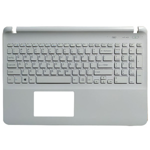 Клавиатура для ноутбука sony Vaio SVF15 FIT15 SVF151 SVF152 SVF153 SVF1541 SVF15E белый без сенсорной панели