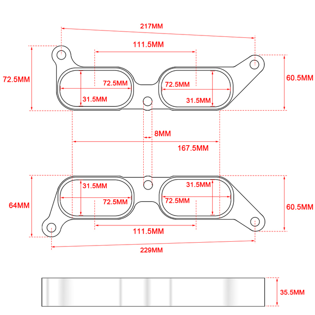 PQY Billet Power Block Intake Manifold Spacers For Subaru BRZ FR-S 13-17 PQY-VSC06