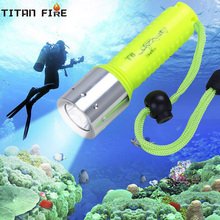 T20 Diving Flashlight LED Super Underwater 3000LM Waterproof Torch Lamp Professional Scuba for Dive Swimming Under Water Sport цена в Москве и Питере