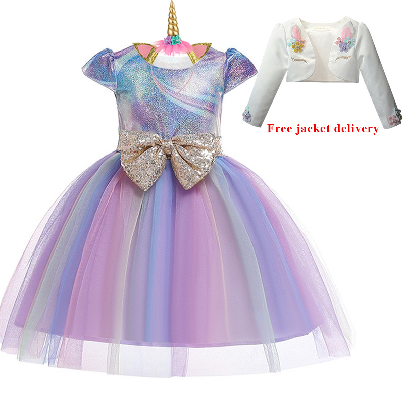 H8e84e3c8f8124eb9803ef1dfcca336ffL New Unicorn Dress for Girls Embroidery Ball Gown Baby Girl Princess Birthday Dresses for Party Costumes Children Clothing