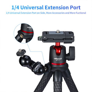 Image 4 - Ulanzi MT 11 Portable Octopus Tripod 2 in 1 Foldable Phone Clip Magic Arm Quick Release Plate With Cold Shoe Mount Clamp Holder