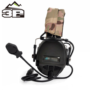 WADSN Tactical Headphones TEA Releases New Hi-Threat Tier 1 Softair Headset Movable Arm Boom Mic Hunting Airsoft Earphone WZ110