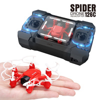 2.4G 126C RC Mini Done With Camera 2MP 4CH 6Axis Drones with Camera HD RC Helicopter Headless Mode RC pocket Quadcopter fly toys