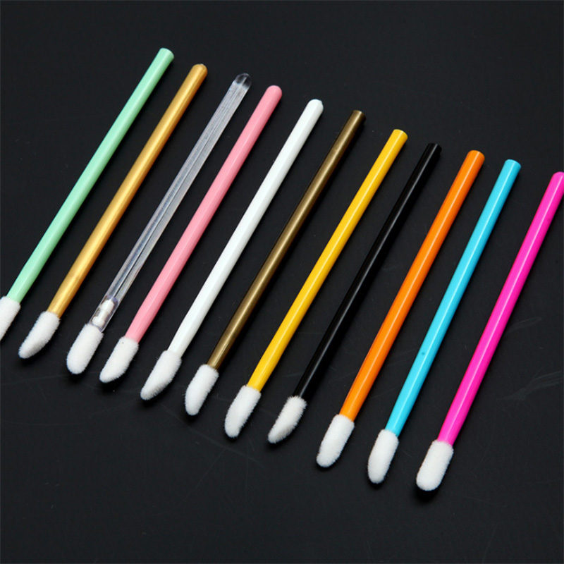 150pcs Disposable Cosmetic Makeup Lip Brush Lipstick Lip Glossy Wands Pen Cleaner Applicator Eyeshadow Lip Gloss Brushes Tool