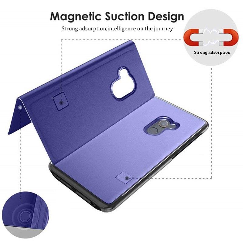 Smart Mirror Flip Case For Xiaomi Redmi Note 7 5 6 K20 Pro 4X 5A 6A 5 Plus S2 Leather Case For Mi 9T 9 F1 8 SE A1 A2 Mix 2 Case in Flip Cases from Cellphones Telecommunications