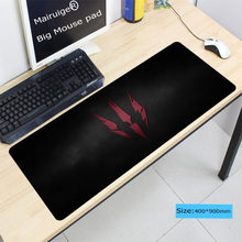Laumans Besar Ukuran 400*900*3 Mm Mouspad untuk PC Komputer Laptop Cs Pergi Notebook Gaming Mouse Pad dijahit Edge Mat(China)