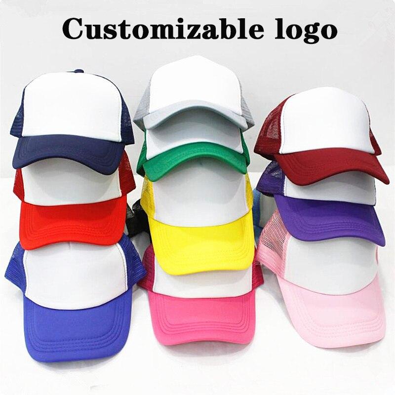 Adult Baseball cap sponge net Customizable logo travel hat activity advertising embroidery student printing DIY