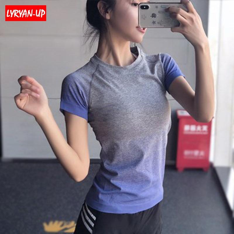 Yoga-Shirt Jerseys Fitness Quick-Dry Running Womens New Gym