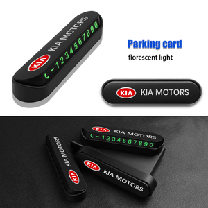 1PCS New Car Styling Temporary Parking Card Phone Number Card For KIA rio 3 4 ceed cerato sportage 2011 2018 2019 accessories