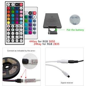 Image 2 - 5m 10m 15m 20m LED Streifen 5050 2835 RGB Streifen LED Licht Flexible Band Streifen DC 12V Weihnachten lichter IR Controller mit Adapter