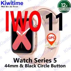 KIWITIME IWO 11 gps Bluetooth умные часы 1:1 Смарт часы 44 мм чехол для Apple iOS Android сердечного ритма кровяное давление IWO 10 Обновление