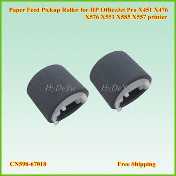 10 Uds CN598-67018 de alimentación de papel recogida de rodillos para impresora HP OfficeJet Pro X451 X476 X576 X551 X585 X557 impresora