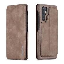 สำหรับ Huawei P30 Pro กรณีฝาครอบแม่เหล็กหนัง Huawei P40 30 20 Lite Luxury PU กระเป๋าโทรศัพท์