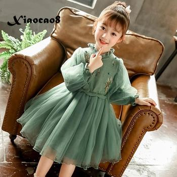 3~13 Y Girl Thicken Velet Dress Children Winter Clothes Girls Party Princess Dress for Girls Fashion Kids Solid Summer Dresses girl princess dress summer style children dresses for girls kids clothing gradient sleeveless fashion party clothes