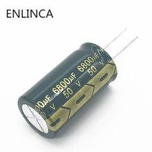 2 pçs/lote G01 50V 6800UF capacitor eletrolítico de alumínio tamanho 50 22*40 6800UF 20% V