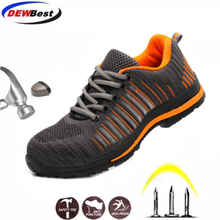 DEWBest new breathable and comfortable flying woven safety labor insurance shoes hiking shoes sports shoes protective shoes