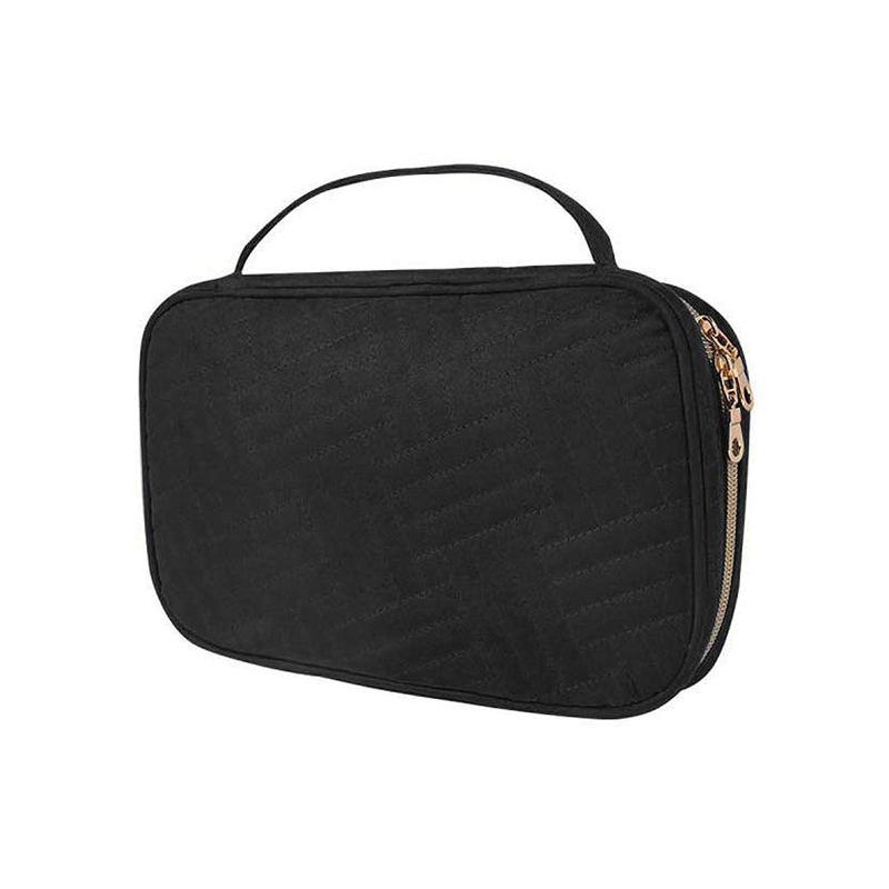 Jewelry Travel Organizer, Traveling Jewelry Bag Case For Earring Necklace Rings Watch Bracelets, Make Up Bags 2-In-1 Cosmetic Ca