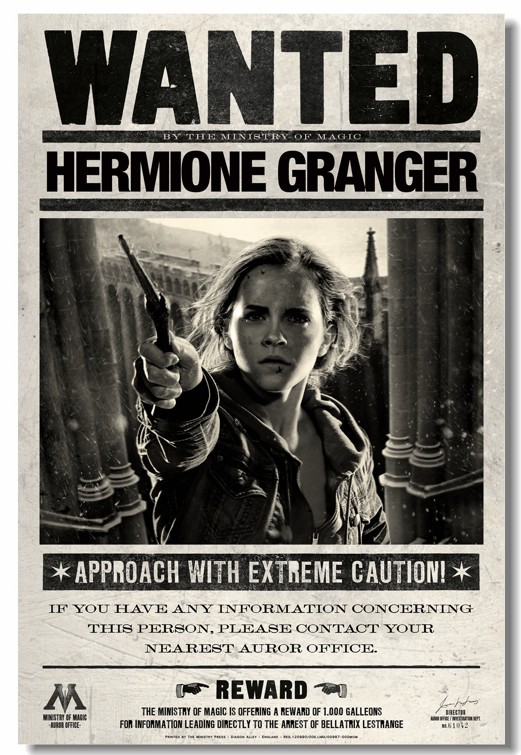 Custom Canvas <font><b>Wall</b></font> Arts HP Wanted Hermione Poster Ron Weasley <font><b>Wall</b></font> <font><b>Stickers</b></font> Emma Watson Wallpaper <font><b>Retro</b></font> Living Room Mural #0659# image