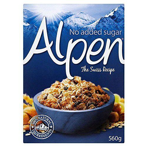 Alpen Muesli Sans Sucre Ajouté (560g) - Paquet De 2