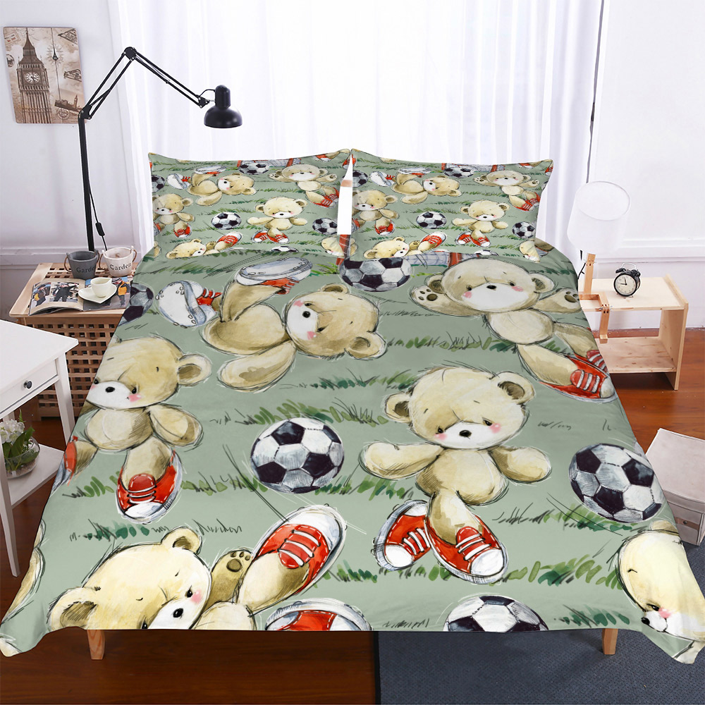 Teddy Bear Bedding Set Kids Duvet