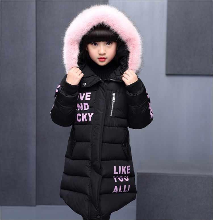 Abrigo de invierno grueso de 3-10 años para niñas abrigo de invierno con estampado bonito para niñas abrigo de invierno de algodón con capucha ropa para niños