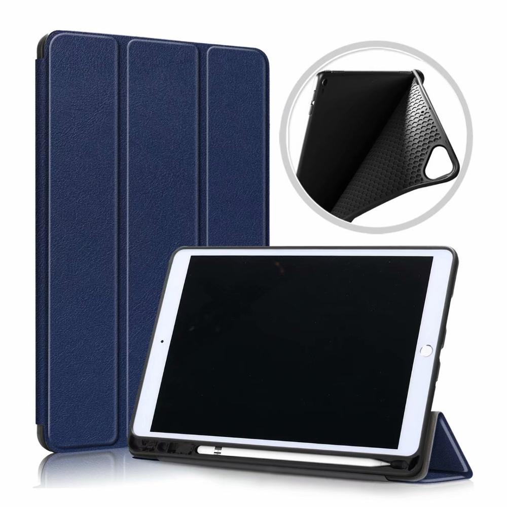 Navy Blue White Ultra Slim Coque For iPad 10 2 2019 Case A2200 A2198 A2232 Smart Magnetic Folding Stand