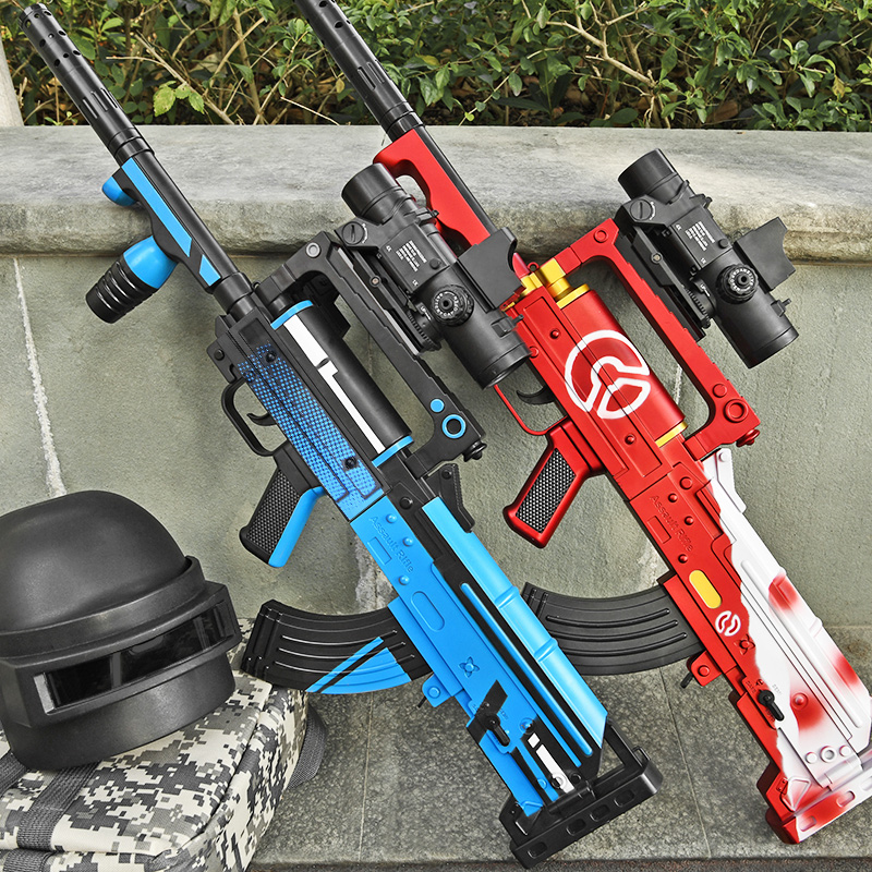 Auto/Manual Groza Electric Water Bullets Ball Toy Gun Soldier Assault Boys Toy Outdoors Shooting CS Battle Game For Children