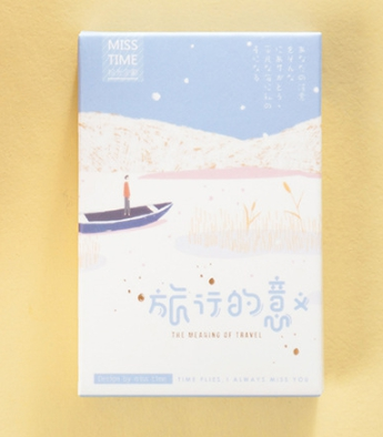 52mm*80mm Travel Meaning Paper Greeting Card Lomo Card(1pack=28pieces)